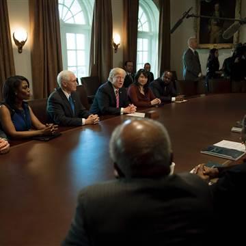 Image: US-POLITICS-TRUMP-BLACK CAUCUS
