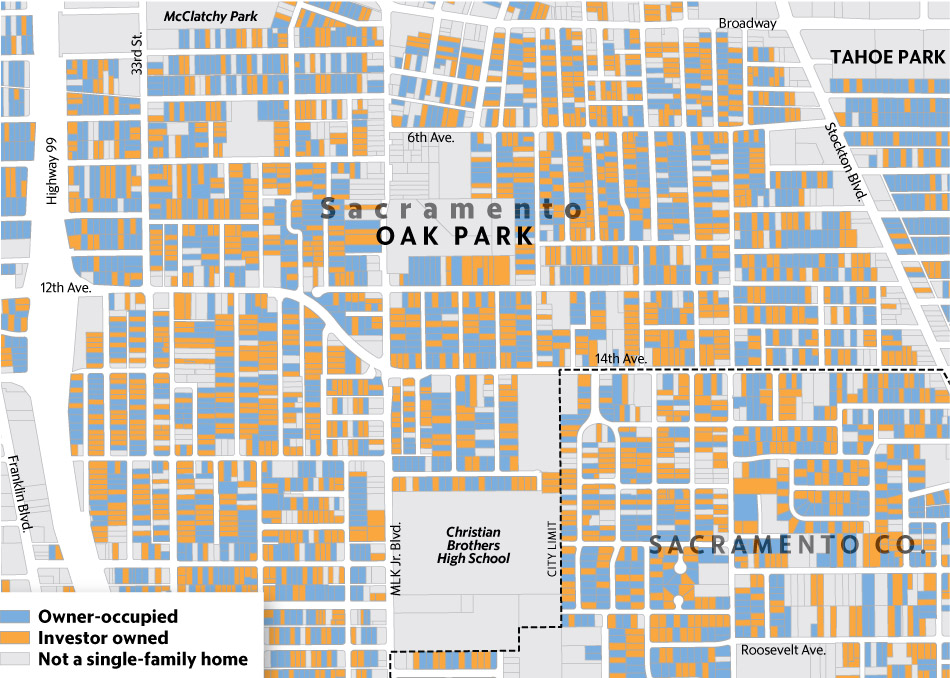 Map of home ownership in Oak Park