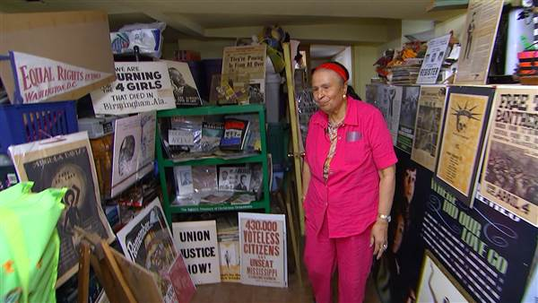 Image: Elizabeth Meaders owns some 50,000 pieces of African American historic items