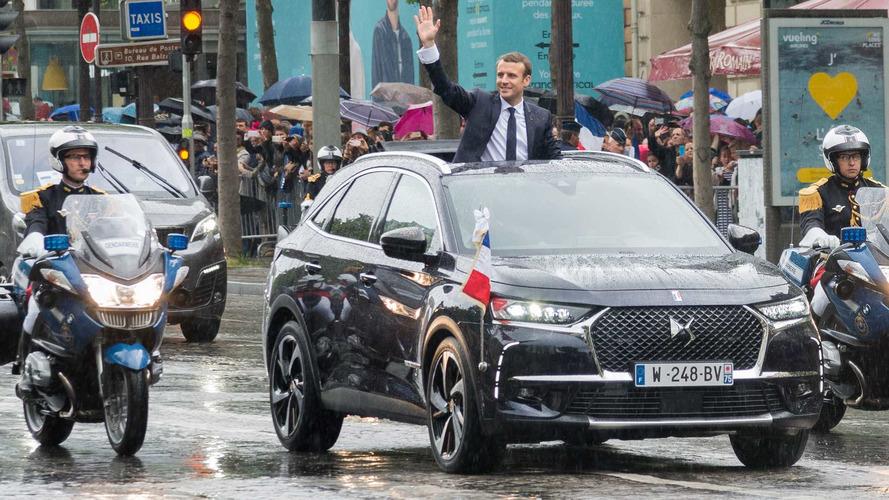 La voiture présidentielle d'Emmanuel Macron