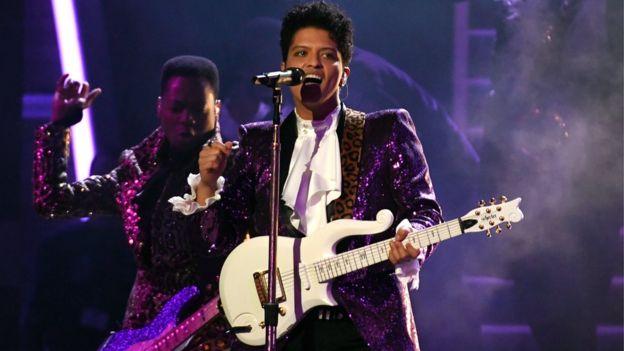 Bruno Mars at the Grammys