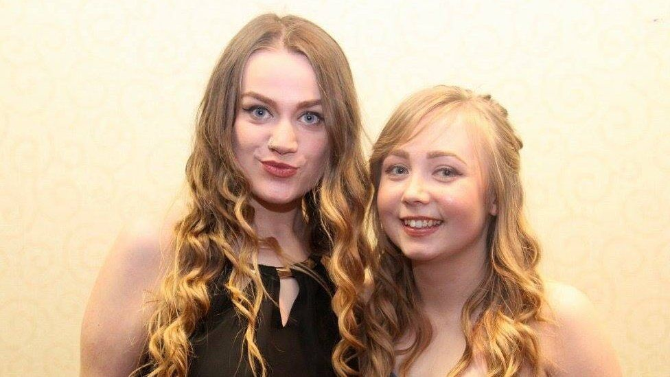 Molly with a friend at the Warwick University Spring Ball