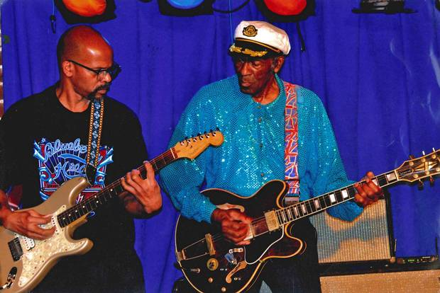 Chuck Berry's final studio album Chuck Chuck features his only son, Charles Berry Jr., on guitar.