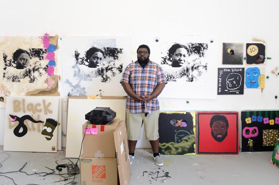 David Leggett in his studio - FELTON KIZER