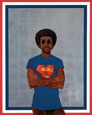 Barkley L. Hendricks, 1969, Icon for My Man Superman (Superman Never Saved any Black People—Bobby Seale)