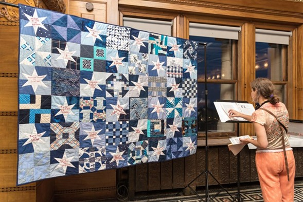 "From the ""Gone but Not Forgotten"" series, a collaborative quilting project by Rachel Wallis memorializing victims of police violence - COURTESY OF SARAH-JI"