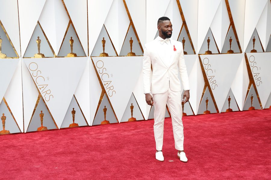 Playwright+Tarell+Alvin+McCraney+poses+at+the+89th+Academy+Awards+in+February.+McCraney+spoke+about+how+his+experiences+as+a+black%2C+queer+artist+have+influenced+his+scripts+at+a+Friday+event.+