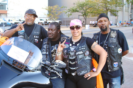 Lion Heart, k-9, Mrs. K-9, Wolf- Head of the Wolf Pack MC say they came down to support the race for the cure