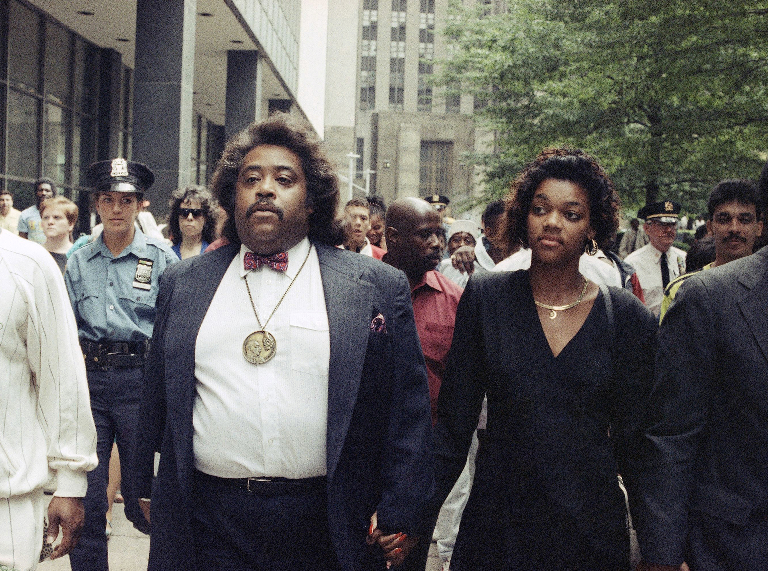 Image: Rev. Al Sharpton, left, and Tawana Brawley in 1990