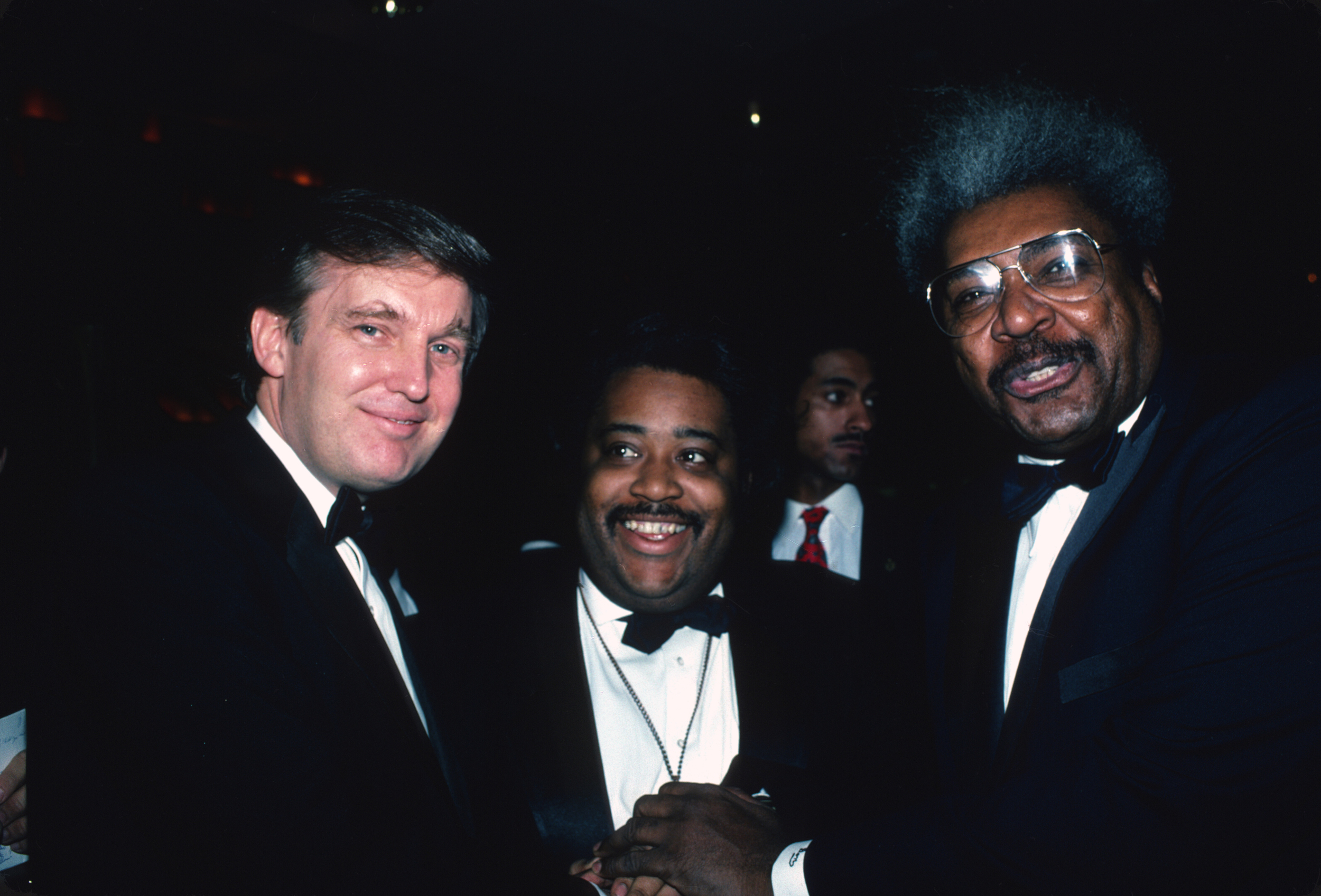 Image: Donald Trump, Al Sharpton and Don King attend the