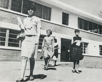 "HIGHER LEARNING: In the era of segregation, some public schools for African-American children only went to eighth grade. Asheville's Allen High School, a private boarding school founded in 1887 and accredited in 1924, served ""girls of all races who desire an academic curriculum in the liberal arts,"" according to a 1968 brochure that included this photo. It was one option for non-white students who wished to further their education. Photo courtesy of North Carolina Collection, Pack Memorial Public Library, Asheville"