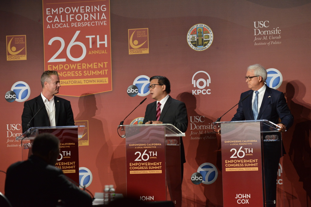 California governor candidates get contentious at first ...