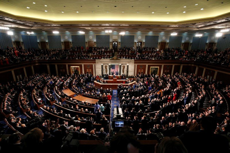 U.S. President Donald Trump delivers his State of the Union address to a joint session of the U.S. Congress on Capitol Hill in Washington, U.S. January 30, 2018. REUTERS/Joshua Roberts