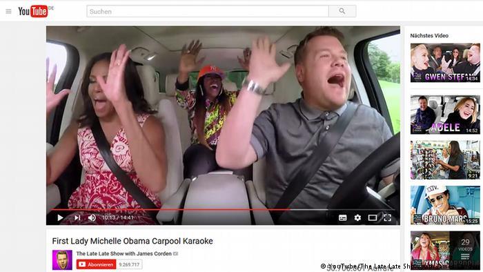 Screenshot James Corden Carpool Karaoke Michelle Obama (YouTube/The Late Late Show with James Corden)