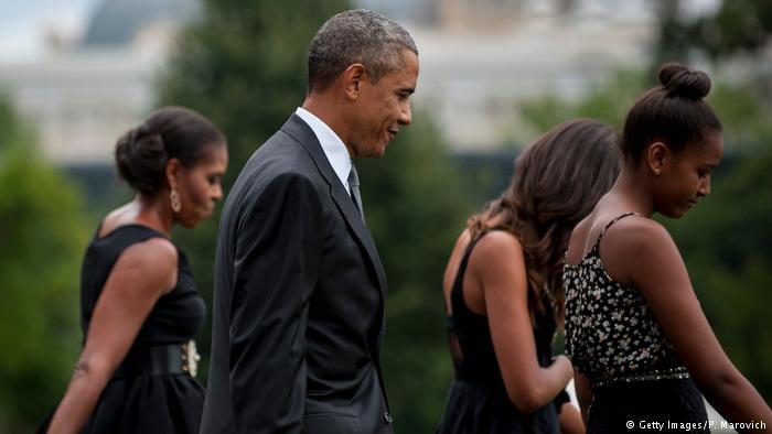 USA Familie Obama im Weißen Haus (Getty Images/P. Marovich)