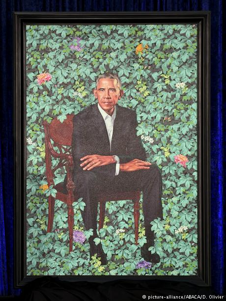 The official portrait of former President Barack Obama (picture-alliance/ABACA/D. Olivier)