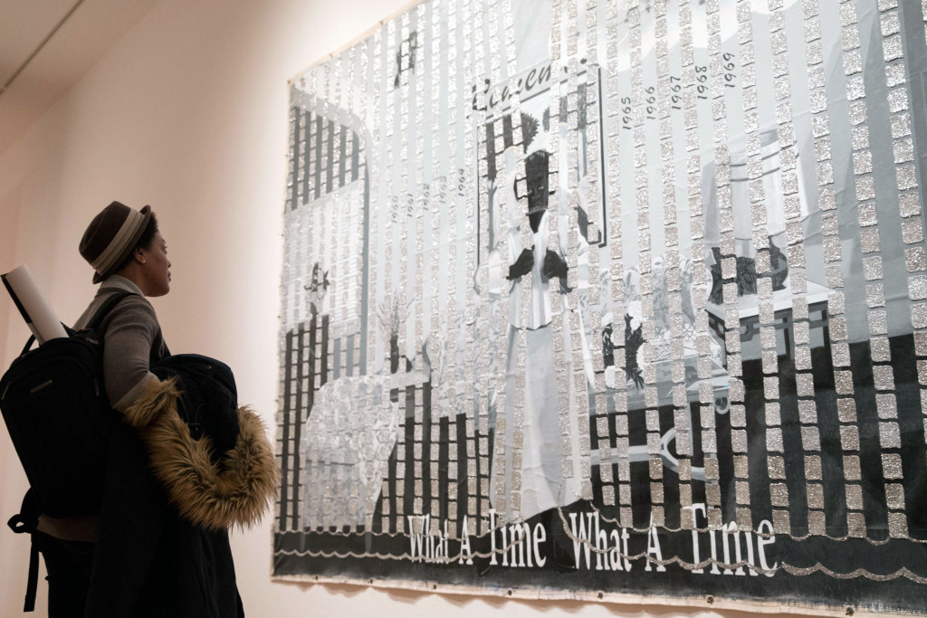 """""""What A Time, What A Time"""" by Kerry James Marshall in Seattle Art Museum's Figuring History exhibit. Photo: Matt M. McKnight/Crosscut"""