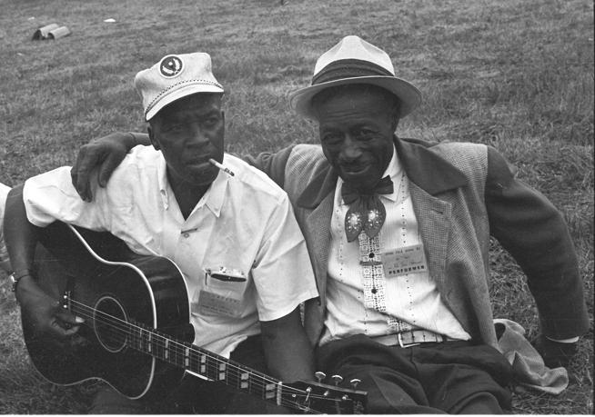 "Skip James, left, and Son House in ""Two Trains Runnin',"" which screens at noon today during the 2018 Boulder International Film Festival."