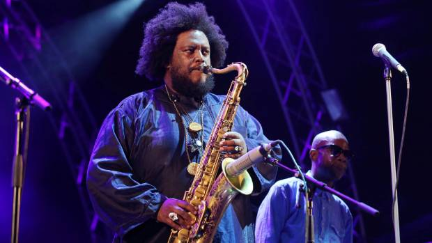 "Kamasi Washington grew up ""loving N.W.A. and Bach equally""."
