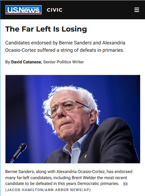 US News: The Far Left Is Losing