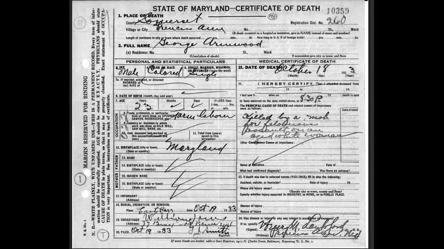 Lynchings in Maryland