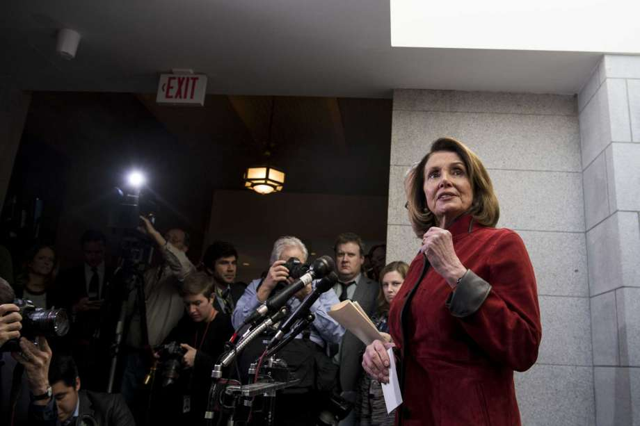 House Minority Leader Nancy Pelosi speaks at a news conference at the Capitol in Washington, D.C., on Dec. 12, 2017. Photo: Carolyn Van Houten/The Washington Post / The Washington Post