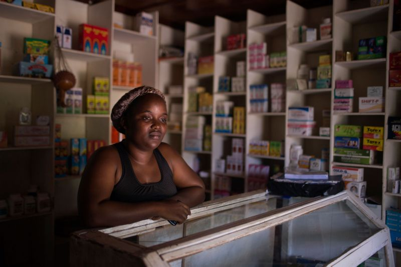 Previous More Than Me school nurse Iris Martor stands in her Pharmacy.