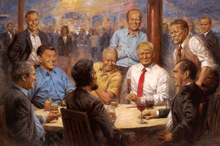 donald trump Republicans Club painting