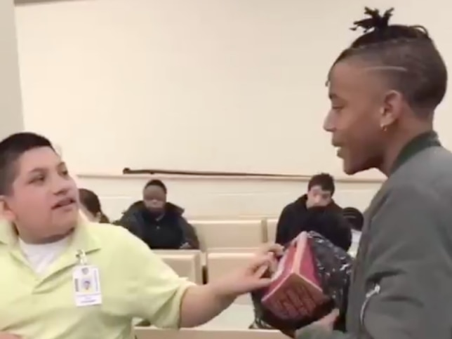 This 17-year-old surprised his classmates with special needs by buying them sneakers after they said they liked his shoes.
