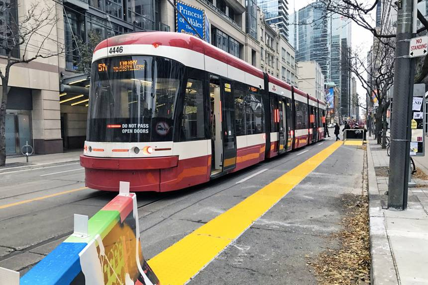 The Flexity streetcar has a very low floor, making it easy for all to enter and exit. (Photo: City of Toronto)