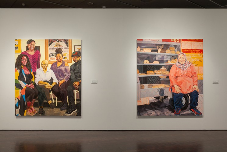 """Sylvia's"" and ""Fatima"" in Jordan Casteel: Returning the Gaze at the Denver Art Museum."