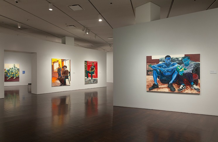 Installation view of Jordan Casteel: Returning the Gaze at the Denver Art Museum.