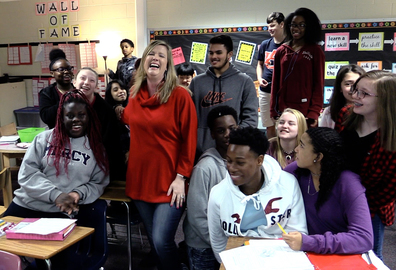 Students cheer as teachers named finalists for top educator
