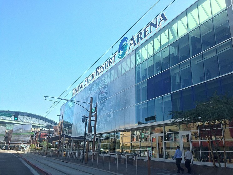 Renovations to the city-owned Talking Stick Resort Arena became a campaign issue in the mayoral race.