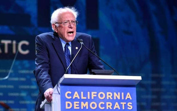 Liberal US Senator Bernie Sanders seen here in San Francisco on June 2 2019 is among the frontrun...