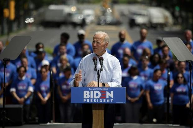 Former US vice president Joe Biden is the top-ranked Democrat seeking to win the right to challenge ...