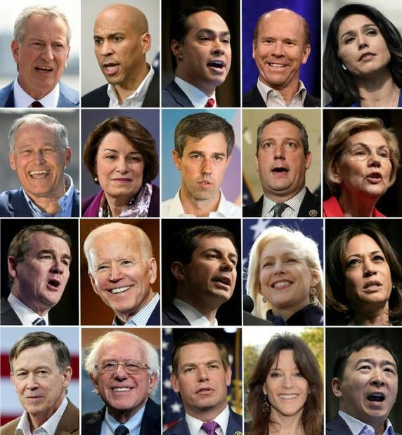 Twenty candidates chasing the Democratic 2020 presidential nomination will square off in a prime-tim...