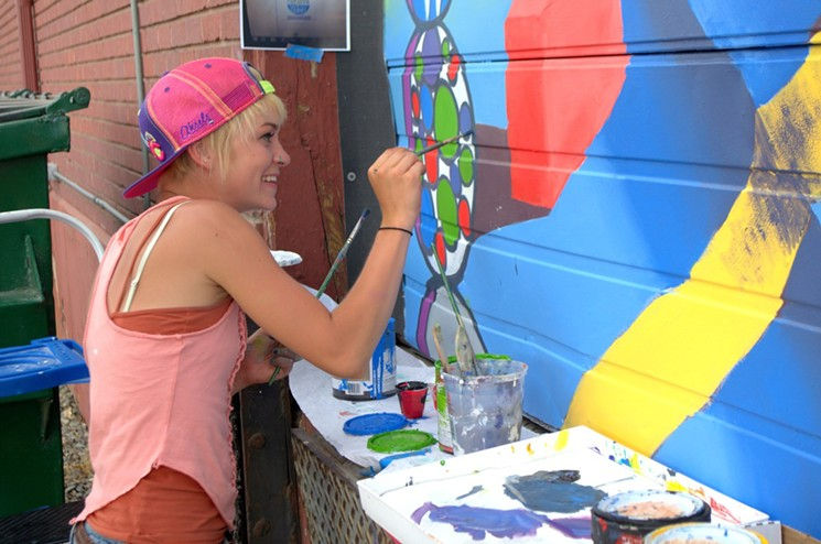 Watch mural-making in real-time at Colfax ArtFest 2019.