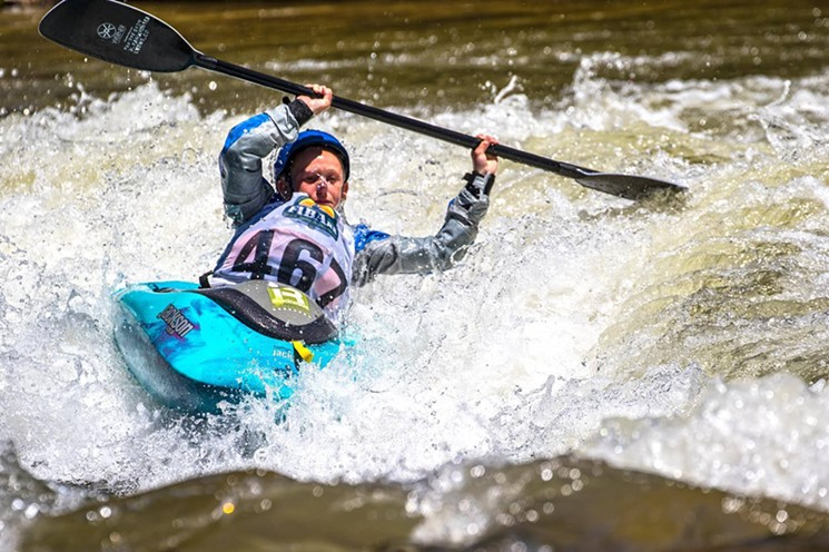 Watch downriver action on the Arkansas River at the FIBArk Whitewater Festival.