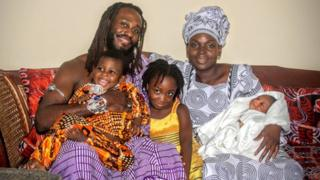 Obadele Kambon and family