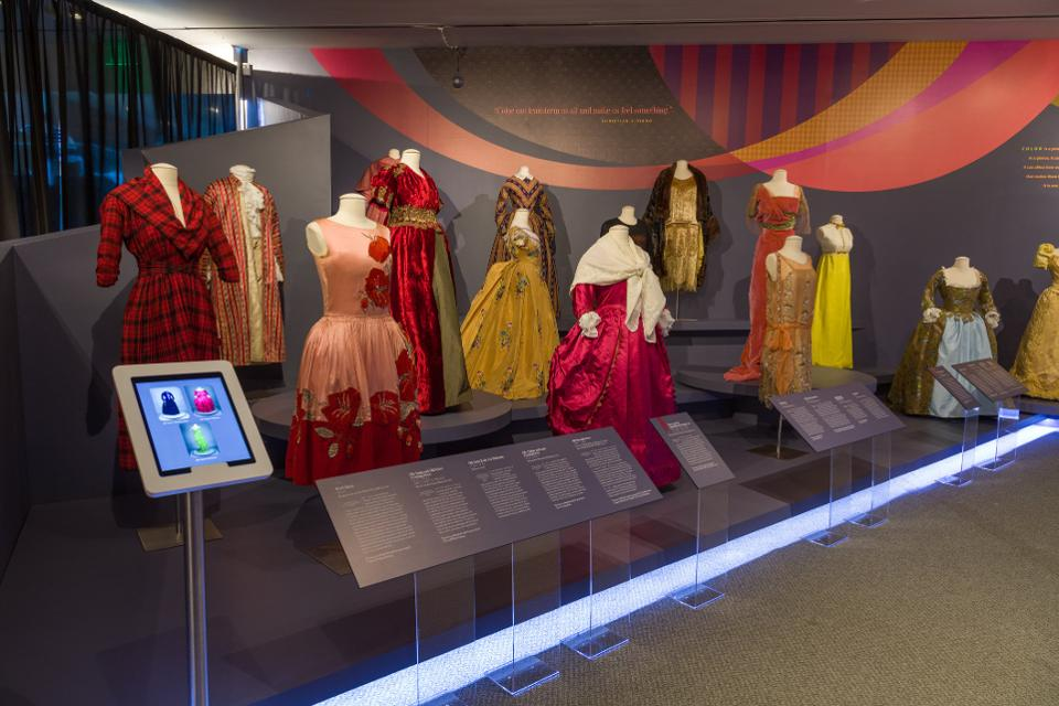 'Spectrum of Fashion' exhibit installation view at Maryland Historical Society.