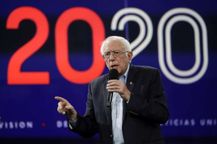In this Nov. 16, 2019, photo Democratic presidential candidate Sen.Bernie Sanders, I-Vt., speaks during a presidential forum at the California Democratic Party's convention in Long Beach, Calif. Photo: Chris Carlson, AP / Copyright 2019 The Associated Press. All rights reserved