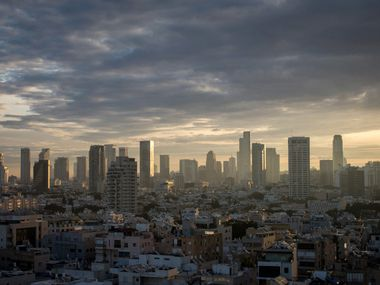 TEL AVIV, ISRAEL - JANUARY 15: The Tel Aviv skyline is seen at sunrise on January 15, 2017 Photo by Chris McGrath/Getty Images