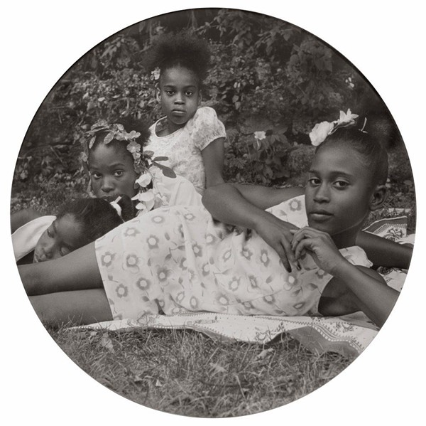 """After Manet, from May Days Long Forgotten,"" 2002, Carrie Mae Weems, American; digital chromogenic print. Detroit Collects: Selections of African American Art from Private Collections runs through March 1 at the DIA. - SHIRLEY WOODSON AND EDSEL REID COLLECTION; COURTESY OF THE DIA"