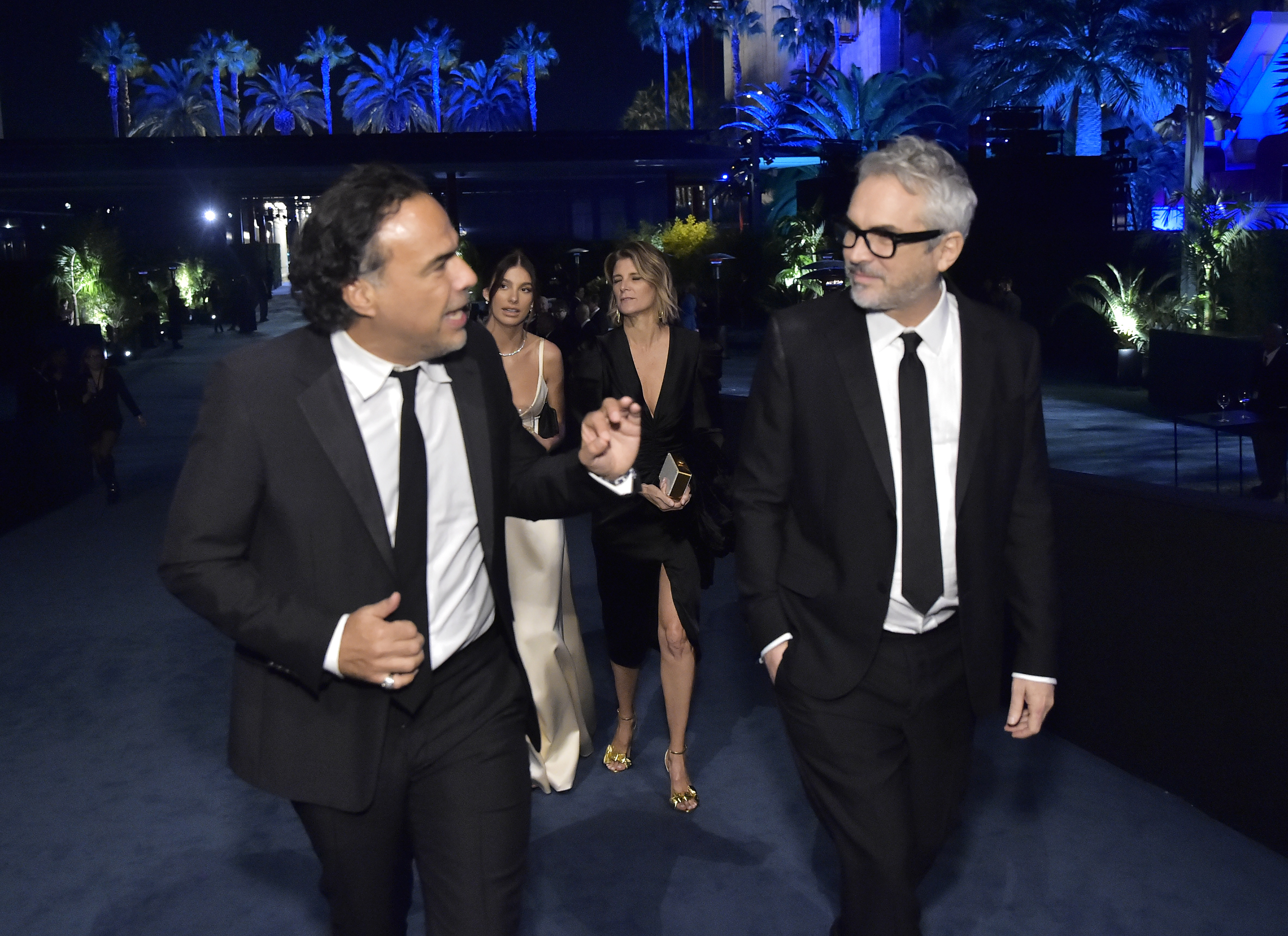 LOS ANGELES, CALIFORNIA - NOVEMBER 02: Alejandro González Iñárritu, Camila Morrone, Maria Eladia and Alfonso Cuarón, wearing Gucci, attend the 2019 LACMA Art + Film Gala Presented By Gucci at LACMA on November 02, 2019 in Los Angeles, California. (Photo by Stefanie Keenan/Getty Images for LACMA)