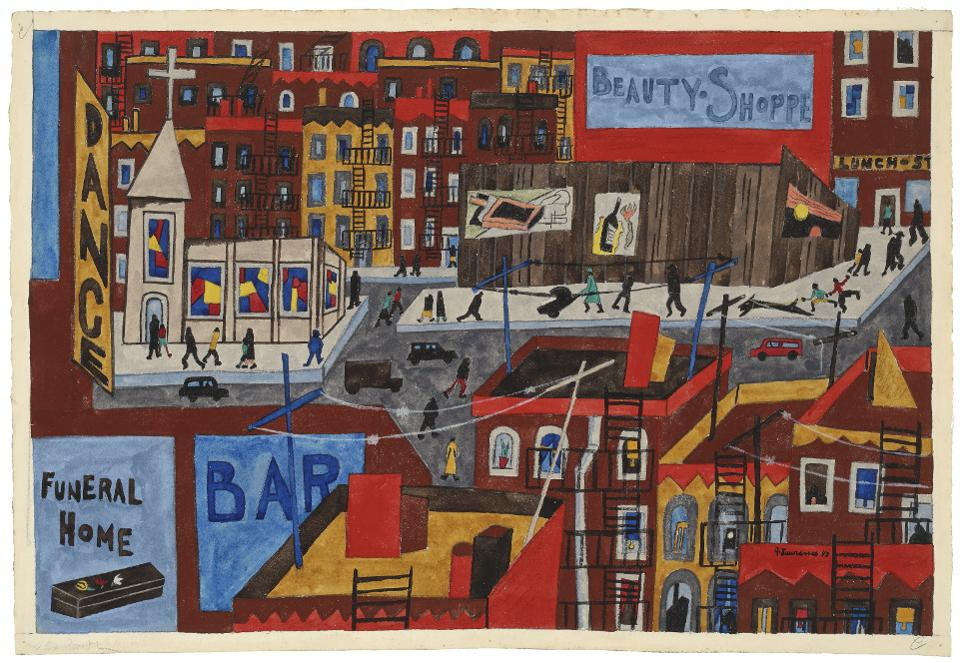 Jacob Lawrence (1917–2000), 'This Is Harlem, 1943, from The Harlem Series.' Gouache and pencil on paper.
