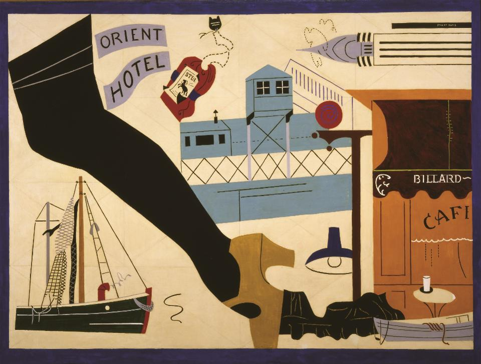 Stuart Davis (1892–1964), 'New York—Paris No. 1, 1931.' Oil on canvas.