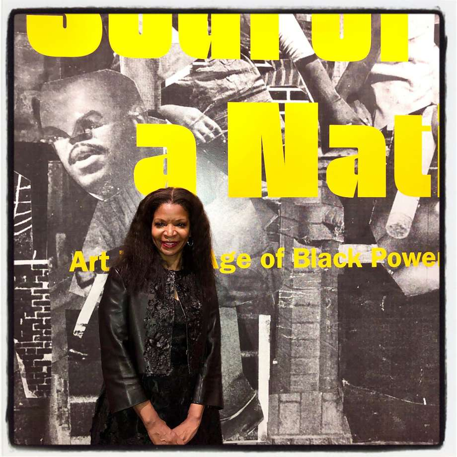 """Art collector Pamela Joyner at the de Young Museum opening of """"Soul of a Nation"""" exhibition. Nov. 7, 2019. Photo: Catherine Bigelow / Special To The Chronicle"""