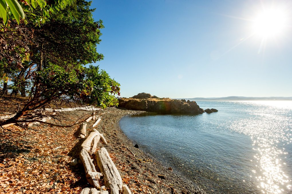 During Prohibition, famed Seattle bootlegger Roy Olmstead would pick up shipments of Canadian liquor on D'Arcy Island and smuggle them back to Washington. You can still wander picturesque D'Arcy Island today, a ferry away from Victoria, British Columbia. (Fritz Mueller / Parks Canada / Gulf Islands National Park Reserve)