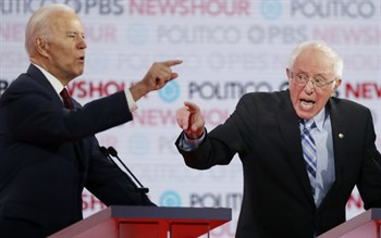 Biden and Sanders going at it